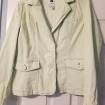 Gap Jacket Blazer Women's Size 12 Mint Green Corduroy Stretch Photo
