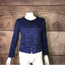Gap Jacket Women's Size 2 Full Zip Up Blue Black Zip Pockets (A88)  Photo