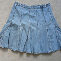 Gap Jean Skirt Vintage Design Size 8 Flirty Pleated Design Photo