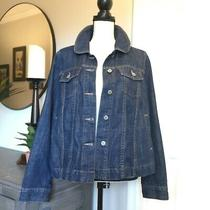 Gap Jeans 1969 Limited Edition Women's Denim Jacket Size Xl Blue Jeans Pleats Photo