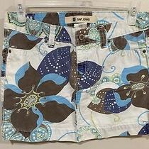 Gap Jeans Floral Paisley Print Denim Mini Skirt Blue Brown Size 8 Photo