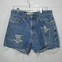 Gap Jeans Shorts Distressed Size Approx. Xl Photo
