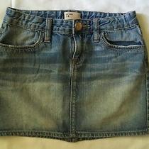 Gap Jeans Skirt Girls Sz 14 Blue Jean Cute   Photo