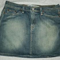 Gap Jeans Stretch Mini Denim Skirt Size 8  Photo