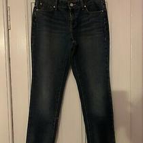 Gap Jeans Women Size 8 10 Dark Blue Indigo Denim 27l 32w Used Comfy Boyfriend Photo