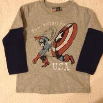 Gap Junk Food 2-in-1 Superhero Graphic T-Shirt Capitan America Size 2t Photo