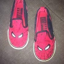 Gap Junk Food Boys Spider-Man Red Slip on Sneaker Shoes  Photo