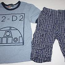 Gap Junk Food Star Wars R2-D2 Shirt Ranger Plaid Shorts Outfit 5y Photo