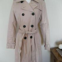 Gap Khaki Blush Womens Belted Trench Coat - Size Medium Photo