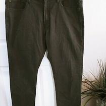 Gap Khakis Slim Stretch Men's Size 38 X 30 Green Cotton Blend Pants New Photo