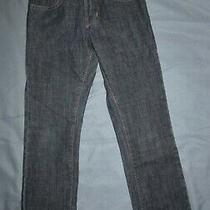 Gap Kids 1969 Boys Dk Blue Straight Leg Adjustable Waist Jeans Euc - Size 8 Slim Photo