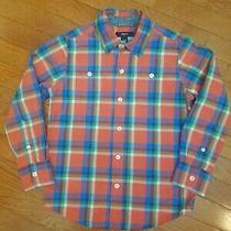 Gap Kids 6 7 Small Boys Multicolor Checked Long Sleeve Button Up Shirt  Photo