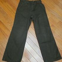 Gap Kids 8 Boys Straight Fit Adjustable Waist Pants Brown Bottoms  Photo