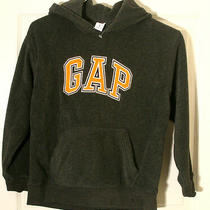 Gap Kids 8 M Fleece Hoodie X Soft X Thick Charcoal Gray Orange Boys Girls Nwot Photo