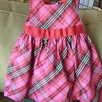 Gap Kids Baby Red Plaid Taffeta Dressy Dress 12 18 Months Euc Valentines Photo