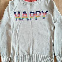 Gap Kids Big Girls Off White Knitted Cotton Warm School Sweater Top Size S 6-7 Photo