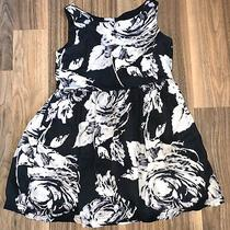 Gap Kids Black & White Floral Sun Dress  Girls Size 6/7 Euc Photo