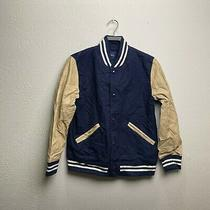 Gap Kids Blue/ Tan Varsity Jacket Size Xxl 2xl (14-16) Photo