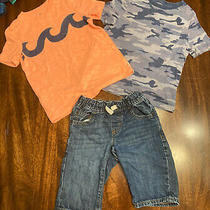 Gap Kids Boy Clothes Set Includes 1 Pair Jean Shorts W/2 Tops Boys Size Xs Kids Photo