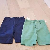 Gap Kids Boy Navy and Green Shorts Size 6 (Lot of 2) Photo