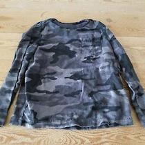 Gap Kids Boy Size Xs 4-5 Black Camo Camouflage Long Sleeve T-Shirt Photo