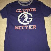 Gap Kids Boy Sz M Medium 8 Clutch Hitter Baseball T Shirt Blue Gray  Photo