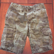 Gap Kids Boys Adjustable Waist Camo Cargo Shorts Size 6 Regular Photo