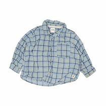 Gap Kids Boys Blue Long Sleeve Button-Down Shirt 18-24 Months Photo