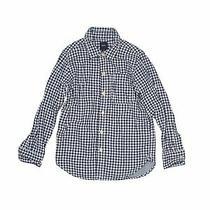Gap Kids Boys Blue Long Sleeve Button-Down Shirt 6 Photo