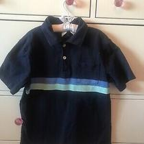 Gap Kids Boys Blue Navy Polo Tee Shirt Sz Medium 8 9 Photo