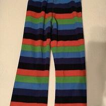 Gap Kids Boys Blue Red Green Striped Fleece Pajama Sleep Pants Pjs   Size 6 Photo