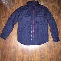 Gap Kids Boys Flannel Lined Puffer Jacket Size M Guc Free Shipping Photo