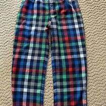 Gap Kids Boys Flannel Pajama Pants Pjs Sleep Pants Red Blue Green Check  Size 6 Photo