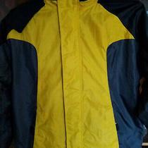 Gap Kids Boys Fleece Lined Lightweight Hooded Rain Jacket Size L (10) Photo