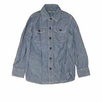 Gap Kids Boys Gray Long Sleeve Button-Down Shirt 6 Photo