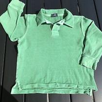 Gap Kids Boys Green Long Sleeve Cotton Polo Mesh T-Shirt Top Tee Xs 4-5 Photo