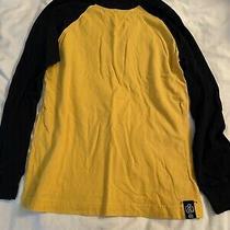Gap Kids Boys Henley Blue and Yellow Long Sleeve Tee Shirt Size Large Photo