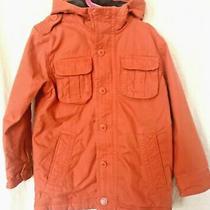 Gap Kids Boys Hooded Cotton Quilt-Lined Jacket Parka Coat Orange Sz. S 6-7 Photo