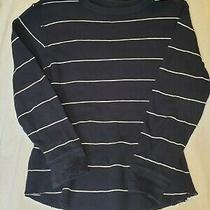 Gap Kids Boys Long Sleeve Blue Shirt Size M 8 Striped Back to School Fall Outfit Photo
