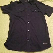 Gap Kids Boys Navy Blue Button Down Collared Shirt Size Lg 10-11 Yrs Photo