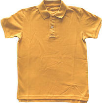 Gap Kids Boys Polo Shirt Cotton Short Sleeve Yellow Sz M 8 Photo