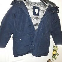 Gap Kids Boys Puffer Coat Sz S. Black . Hardly Worn Hood. Zipper. Pockets Photo