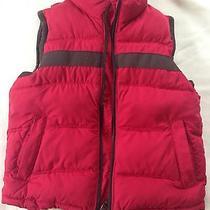 Gap Kids Boys Puffy Puffer Warm Vest Red Zip Up S 5-6  Photo