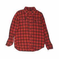 Gap Kids Boys Red Long Sleeve Button-Down Shirt 10 Photo