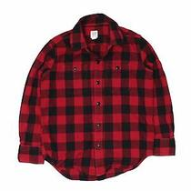 Gap Kids Boys Red Long Sleeve Button-Down Shirt 6 Photo