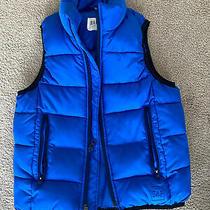 Gap Kids Boys Royal Blue Puffer Vest Size Xs Photo