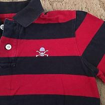 Gap Kids Boys Short Sleeve Polo Shirt Size Medium 8 Skull Crossbones  Photo
