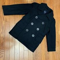 Gap Kids Boys Size 6-7 Coat Jacket Black Double Button Front Blazer A Photo