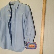 Gap Kids Boys Size Xs  4-5 Button-Up Long Sleeve Blue Shirt Photo