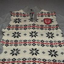 Gap Kids Boys Ski Sweater Cotton Blend Front Pullover Size 12/16 Xl - Xxl Nordic Photo